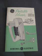 Vintage General Electric Portable Mixer # M37 Instructions and Recipes Booklet