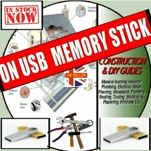 DIY & CONSTRUCTION SKILLS GUIDES PLANS PLASTERING ROOFING & REPAIRS ON USB STICK