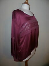 JS MILLENIUM SILK MIX Bordeaux Femme Taille 14 Made in Italy