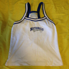 Classic Tees Juniors Extra Small (XS) Nationals USA White & Blue Racerback Top!