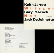 JARRETT PEACOCK DEJOHNETTE  whisper not  LIVE IN PARIS , 1999 / 2 CD