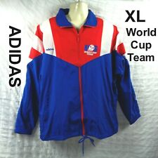 NWT NEW Vintage 90s Adidas World Cup Team USA Soccer Jacket Windbreaker Mens XL
