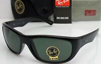 Ray Ban RB4177 601 Men's Black Frame Green Lens Made in Italy Sunglasses NEW