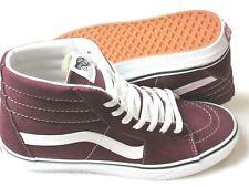 Vans Mens Sk8-Hi Port Royale Red True White Canvas Suede Skate shoes Size 13 NWT