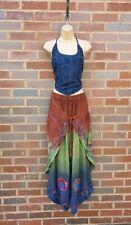 Damen Harem Yoga Hose Top Hose Co-Ord Set bestickt Sommer 8 10 12 14 RGB