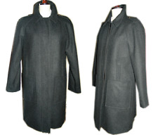 New $750 See By Chloe Grey Wool Regalan Sleeve Epaulets Coat M Jacket 42 - 8- M