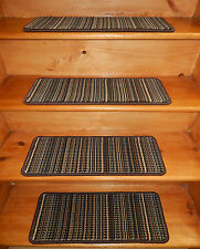 "14= STEP 9"" x  24"" Premium Wilton  Wool Carpet Stair Treads Stair Case."