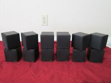 NEW (6) Dual Cube Speakers.Home Theater Rear Black Surround Sound System Set.Lot