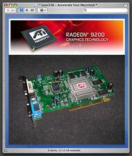 ATi Radeon 9200 128mb AGP Graphics Video Card For Apple PowerMac G4/G5 *DVI+VGA