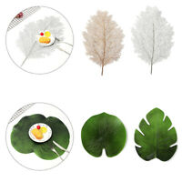 Leaf Shape Dining Placemats Coaster Mat Non-Slip PVC Washable Cup Table Mats