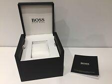New - HUGO BOSS Estuche Box Case Scatola + Instructions - For 1 watch - Black