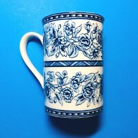 Vtg Blue Dynasty Mug Coffee Elegant Tea Cup Delicate Blue Floral Design Retired