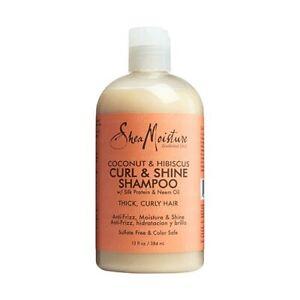 Shea Moisture Coconut & Hibiscus Curl & Shine Shampoo 13oz / 384ml