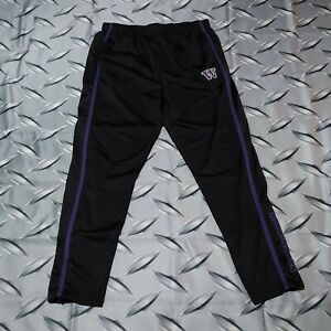 University of Washington Huskies Colosseum Track Pants Size XL Black Purple