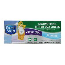 Fresh Step Drawstring Large Litter Box Liners, Heavy Duty Liners for Cat Litt...