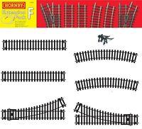 Genuine Hornby Trakmat OO Model Train Track Extension Straight Curve Split Rail