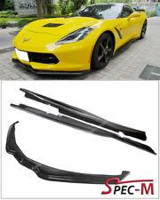 Carbon Fiber Z06 Side Skirt W/ Stage 2 Front Lower Lip For 14-Up Corvette C7
