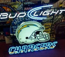 "New Los Angeles Chargers Bud Light Helmet Neon Light Sign 24""x20"" Lamp Poster"