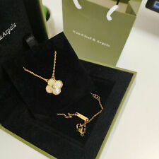Van Cleef and Arpels Vintage Alhambra diamond Yellow Gold Necklace VCA