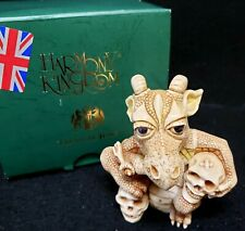Harmony Kingdom Grisaille Dragon Uk Made Marble Resin Box Figurine