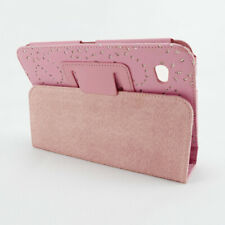 """Pink Bling Sparkly Diamond PU Leather 7""""Flip Cover for SAMSUNG GALAXY P3100"""