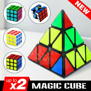 Magic Cube 3x3x3 Super Smooth Fast Speed Rubik Puzzle Rubics Rubix Gift Kids Toy