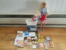 Barbie And Kelly Shopping Fun, Supermarket Food, checkout, money, and misc.