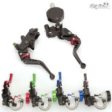 CNC Brake Clutch Master Cylinder Levers Set Hydraulic For Aprilia RS50 RS125 BLK