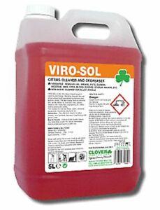 Clover Viro-Sol Virosol 5Ltr Heavy Duty Citrus Cleaner Degreaser 326