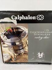 Calphalon Contemporary Stainless Steel - Fondue Set 2 Quart 6 Forks