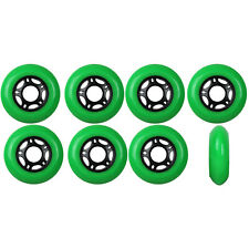 Inline Skate Wheels 80mm 89A Outdoor Green Rollerblade Hockey 8 Pack