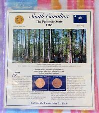 South Carolina Postal Commemorative Soc. State Coin and Stamp Panel Uncirculated