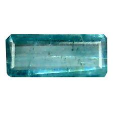 0.25 ct Octagon (6 x 3 mm) Un-Heated Brazil Indicolite Blue Tourmaline Gemstone