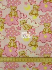 "BABY TEDDY PINK BY BAUM TEXTILE MILLS POLAR FLEECE FABRIC 60"" WIDTH BTY FH-97"