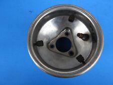 Used silver alum cast freeline front wheel, trucker hubs 120 rain rim or kid