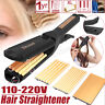 3 in 1 Professional Ceramic Steam Vapor Hair Straightener Flat Iron Curler Salon
