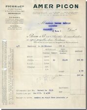 Facture + Traite - PICON & Cie Amer Picon à Bordeaux 1933