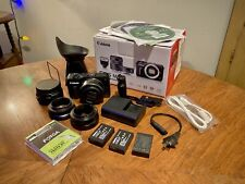 Canon Eos M 18.0Mp Digital Camera with Ef-M22mm f/2 Stm Lens Plus Accessories