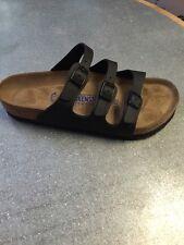 Birkenstock Black Florida Soft Footbed Regular Womens Size 41R And  42R!