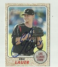 Lake Elsinore Storm ERIC LAUER  Signed 2017 Topps Heritage Minors Card #24