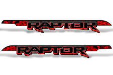 "62"" X 7.25"" Ford F150 RAPTOR Graphics Bed Decals Truck Stickers 15-18 FLAMES RED"