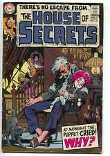 House Of Secrets 86 DC 1970 GD Dog Creepy Puppet Doll Neal Adams