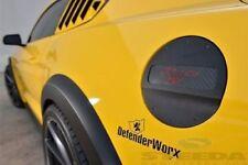 Ford Mustang Black Aluminum Fuel Door Carbon Red Pony Defenderworx 901429