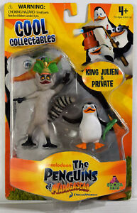 NEW Nickelodeon The Penguins of Madagascar King Julien & Private Penguin Figure