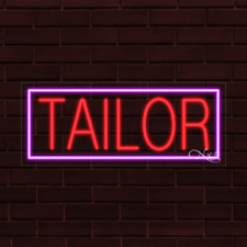 """Brand New """"Tailor"""" w/Border 32x13X1 Inch Led Flex Indoor Sign 30134"""