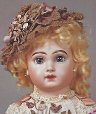 ANY SIZE ANTIQUE FRENCH-GERMAN CHILD DOLL LACE&WIRE HAT/BONNET PATTERN/INSTRUCT