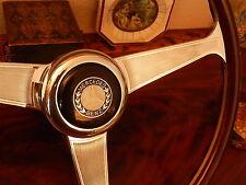 """Mercedes W113 280 SL Nardi 15"""" Dark Wood steering wheel Vintage NOS Hub New"""