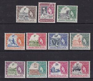 Basutoland - SG 43/53 - m/m - 1954/8 - 1/2d - 10s - Q.E.ll