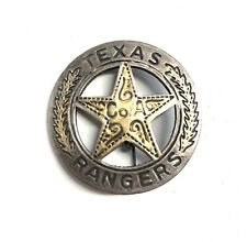 Texas Rangers Badge Company A Old West Made On Mexican Peso Coin Vintage
