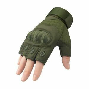 Motorcycle Gloves Half Finger Summer Black Protective Fingerless Hard Knuckle